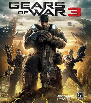 Gears of War 3 video game box