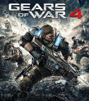 Gears of War 4 video game box