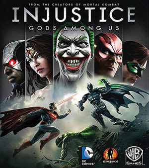 Injustice Gods Among Us video game box