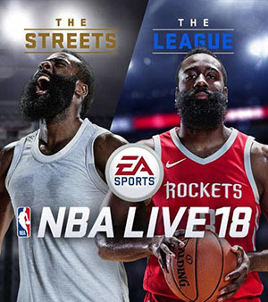 NBA Live 18 video game box