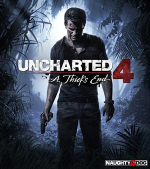Uncharted 4 video game box