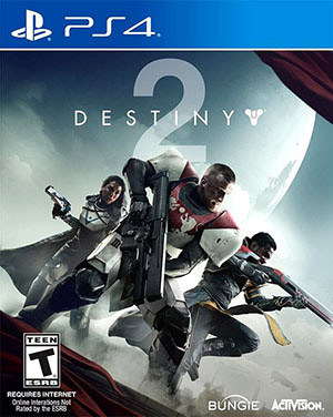 Videogame box cover artwork from Destiny