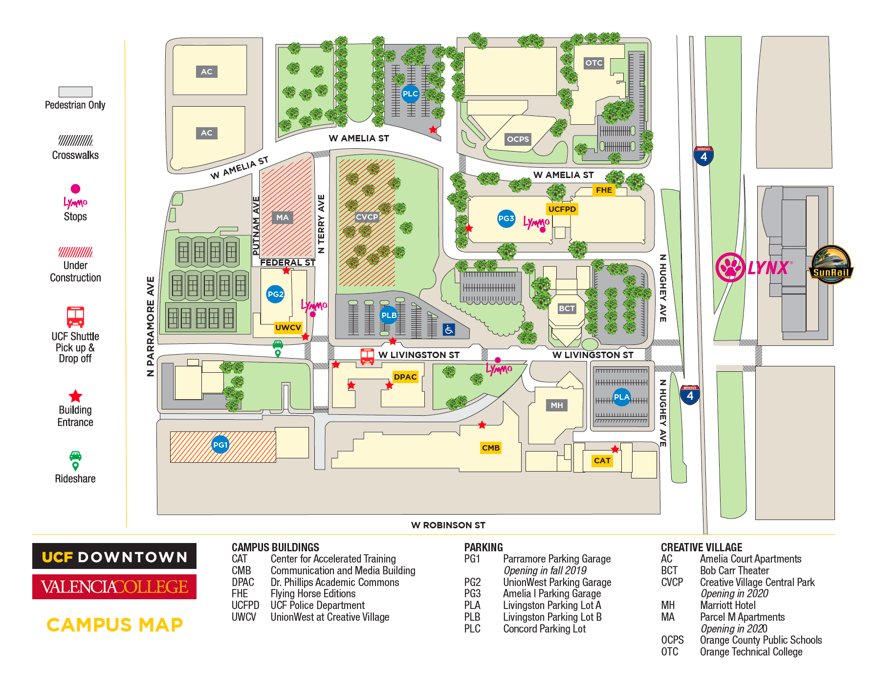 Current UCF parking map